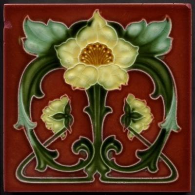 art nouveau tile                                                                                                                                                      More