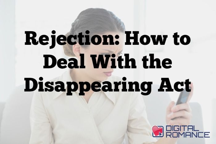 Rejection: How to Deal With the Disappearing Act - Have you ever exchanged flirty emails with a hot guy, only to have him disappear with no explanation, or been out with a woman you thought was really into you and then she stopped taking your calls? Kelly Seal explains if we should be taking rejection personally or if we are missing the bigger picture... #menpullaway #relationshipproblems #advice