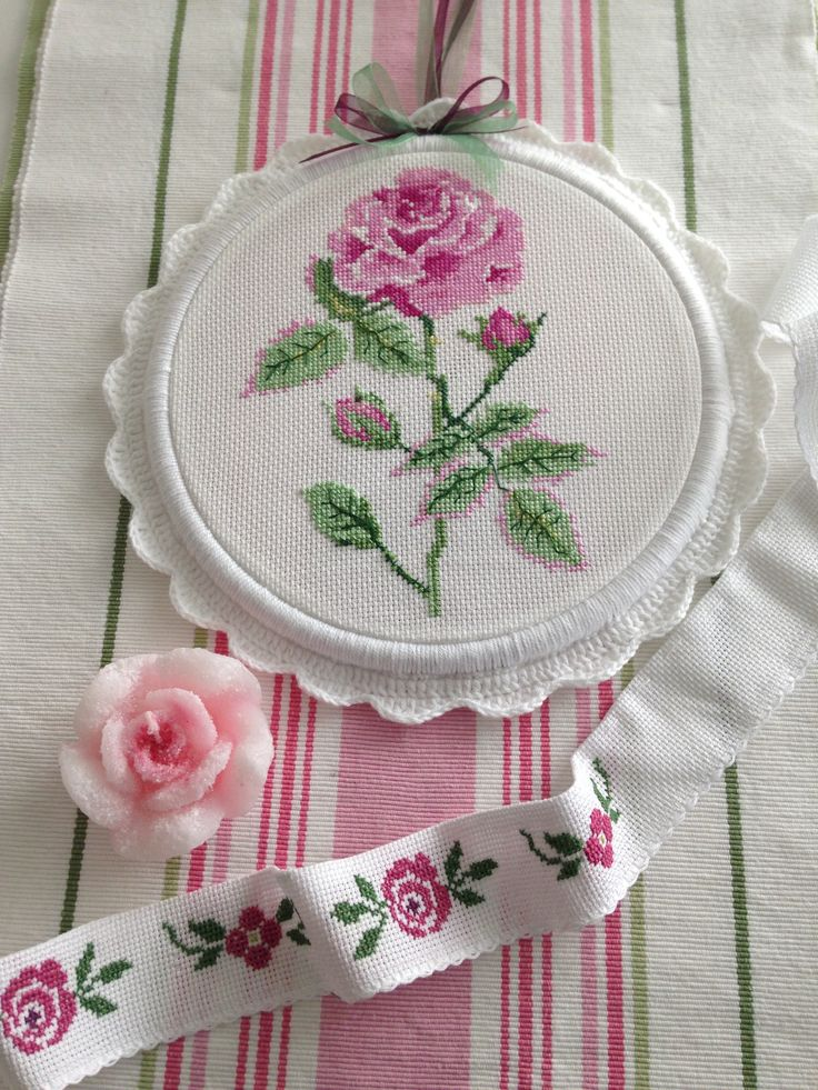 Cross stitch rose @ayseegullce