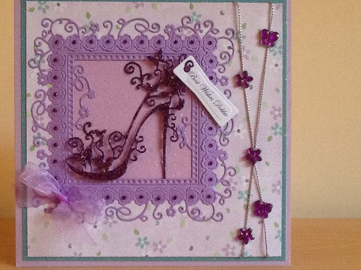Card Making Ideas Using Tattered Lace Dies Part - 15: Card Using Tattered Lace Die