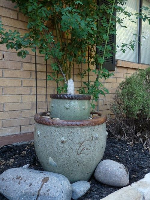 Diy water feature the diy adventures upcycling for Do it yourself water features