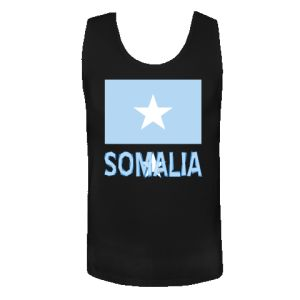 Somalia Flag & Word Black Men's Tank Top   Flags of Nations or Flagnation