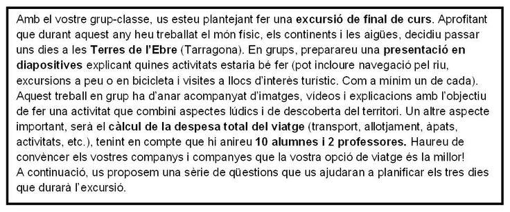 2. Institut Bellvitge (L'Hospitalet de Llobregat) - Xarxa de competències bàsiques. Enunciat del projecte inclòs en el dossier de treball.