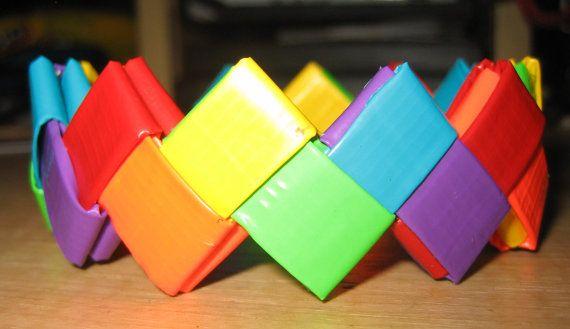 Rainbow Zig-Zag Duct Tape Bracelet...yeah i did this one already...