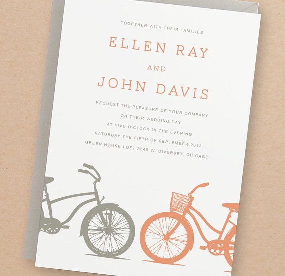 Instant Download  Bicycles  DIY Printable Wedding by SwellAndGrand, $25.00