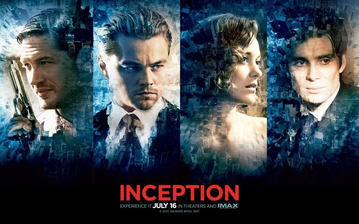Inception è un film del 2010 scritto, prodotto e diretto da Christopher Nolan e interpretato da Leonardo DiCaprio, Tom Hardy, Ken Watanabe...