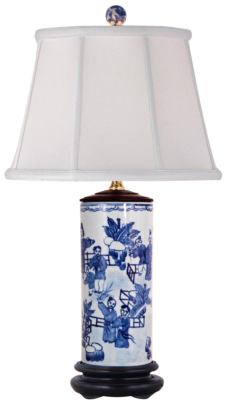 blue and white porcelain canister jar table lamp. Black Bedroom Furniture Sets. Home Design Ideas