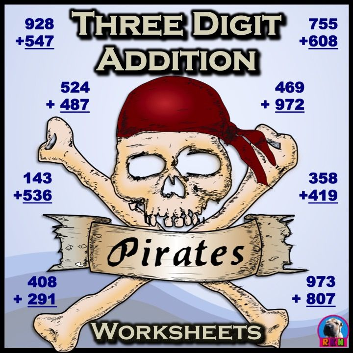 Pirate themed worksheets. Great for extra practice, basic assessments, math sprints, or homework. It includes...1 page without regrouping. 2 pages regrouping in the ones. 2 pages regrouping in the tens. 2 pages regrouping in the hundreds. 2 pages regrouping in the ones and tens. 2 pages regrouping in the ones and hundreds. 2 pages regrouping in the ones, tens, and hundreds. 2 pages with a mix (cover clipart by Molten - Molten - https://openclipart.org/detail/176062/pirates