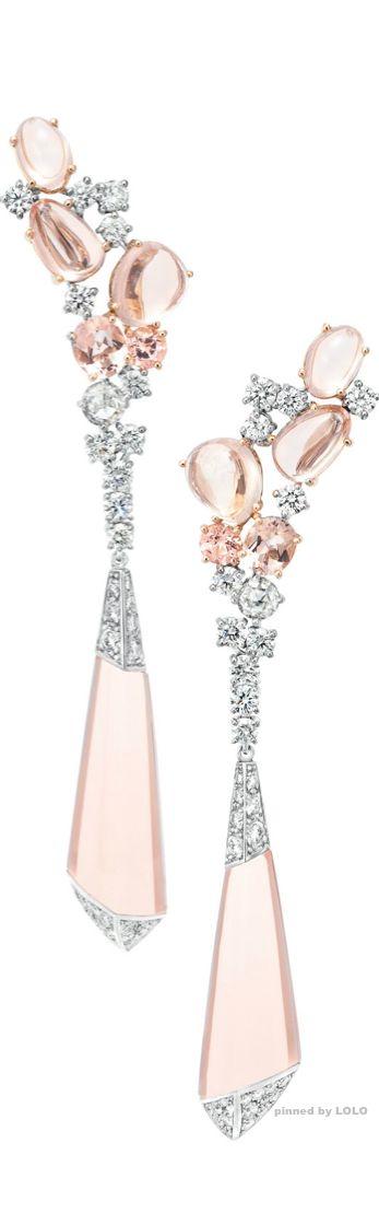 Boucheron Hotel de la Lumiere Halo Delilah earrings set in white gold with morganites and white diamonds (=)