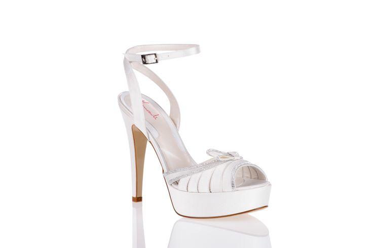 articolo 1772 - Ferracutishoes 2014  scarpe da sposa Ferracuti - sandalo sposa con Swarovski Elements
