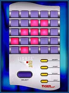 Lights Out game, I had this! I got so excited when I spotted it as part of a bomb in the TV show Lois and Clark