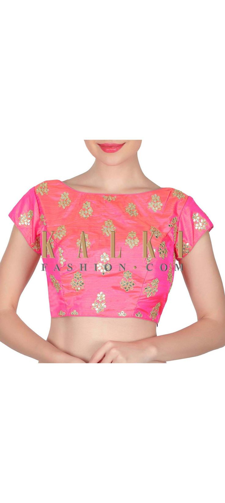 Buy this Pink blouse adorn in gotta patch work only on Kalki
