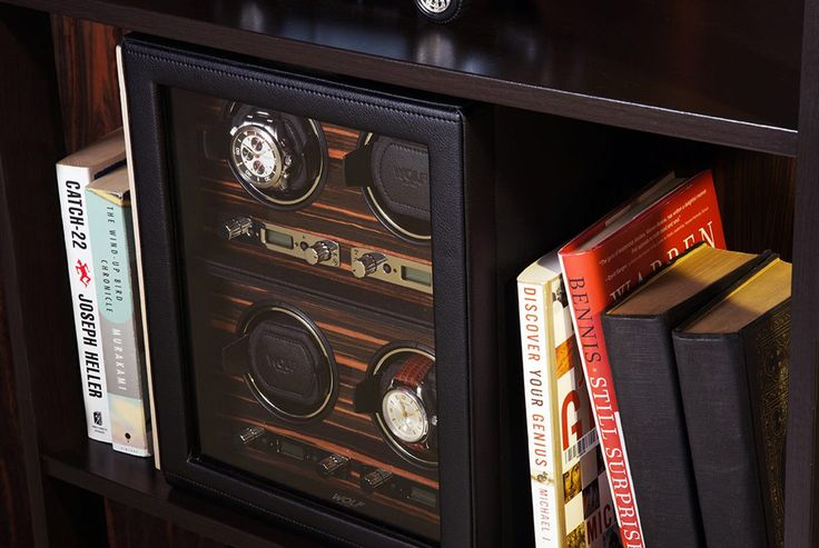 A pair of Heritage double watch winders beside two amazing novels.