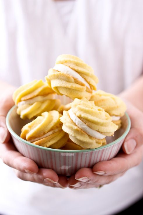 I bet they taste like sunshine -- Lemon Cream Cookies via Cannelle et Vanille, a really gorgeous blog