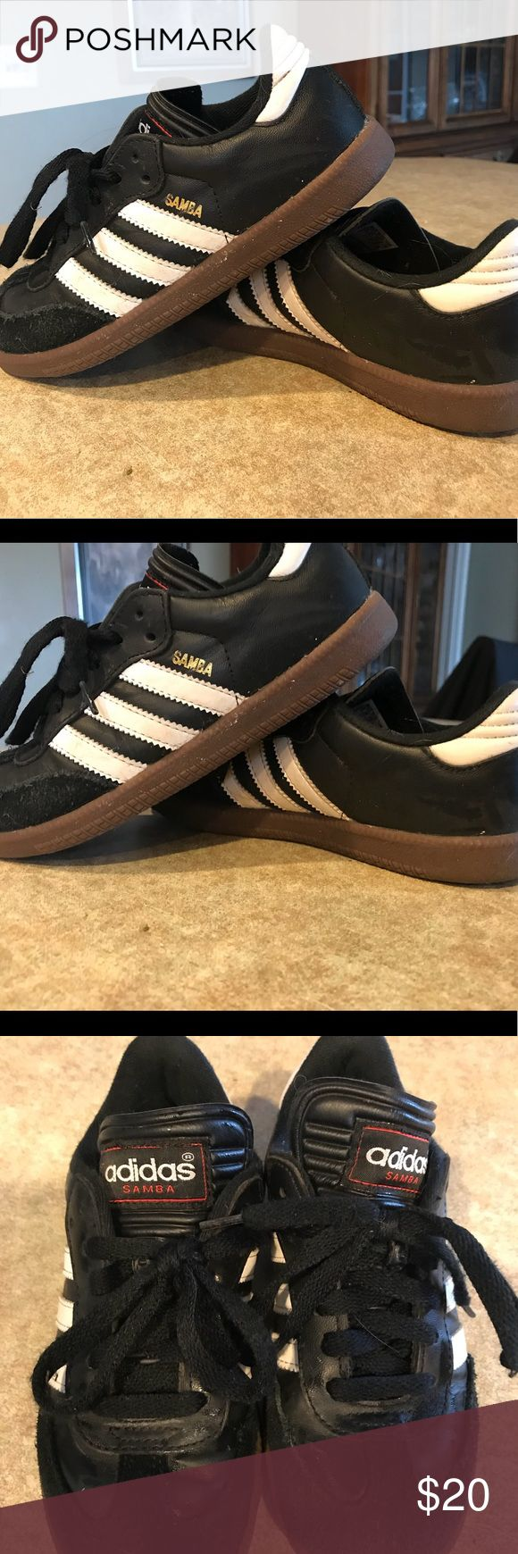 EUC Adidas Samba Size 2 Worn indoors on Turf a few times before she  outgrew them. adidas Shoes Sneakers