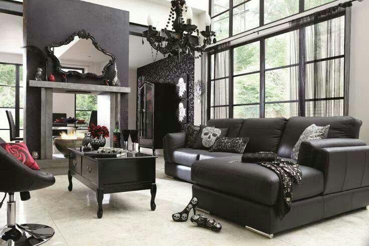 Skull decor living room | BadAss | Pinterest