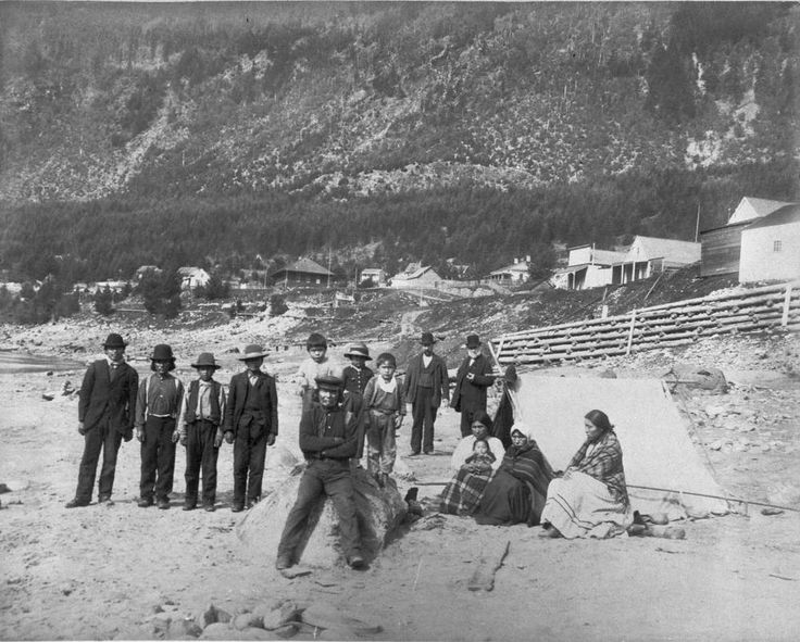 1882 First Nations People at Yale, B.C.