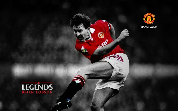 Legend Bryan Robson Manchester United number 7