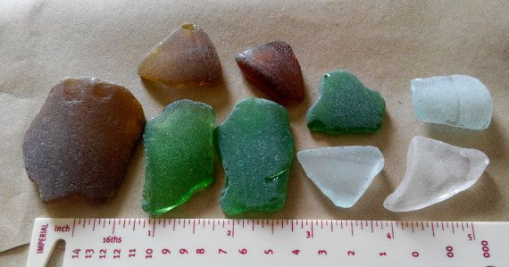 Genuine Irish seaglass pieces found on Irish coast. by terramor