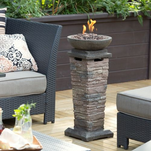 Red Ember Coronado Propane Fire Column Fire Pits At