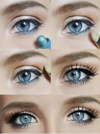 eye popping makeup tutorial for blue eyes