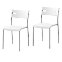 2 Ikea Laver Chairs Stackable White Modern