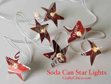 Soda Can Star Lights - can also do flowers