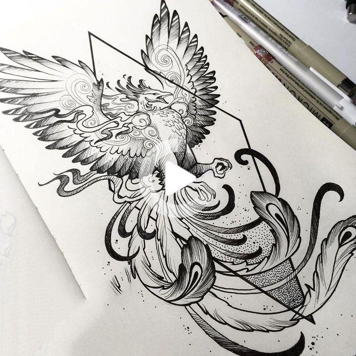 tattoo drawings tattoos sketches sketch phoenix sleeve drawing armtattoo simple tatoo yasinakay side badass dorene mosaul meanings flying
