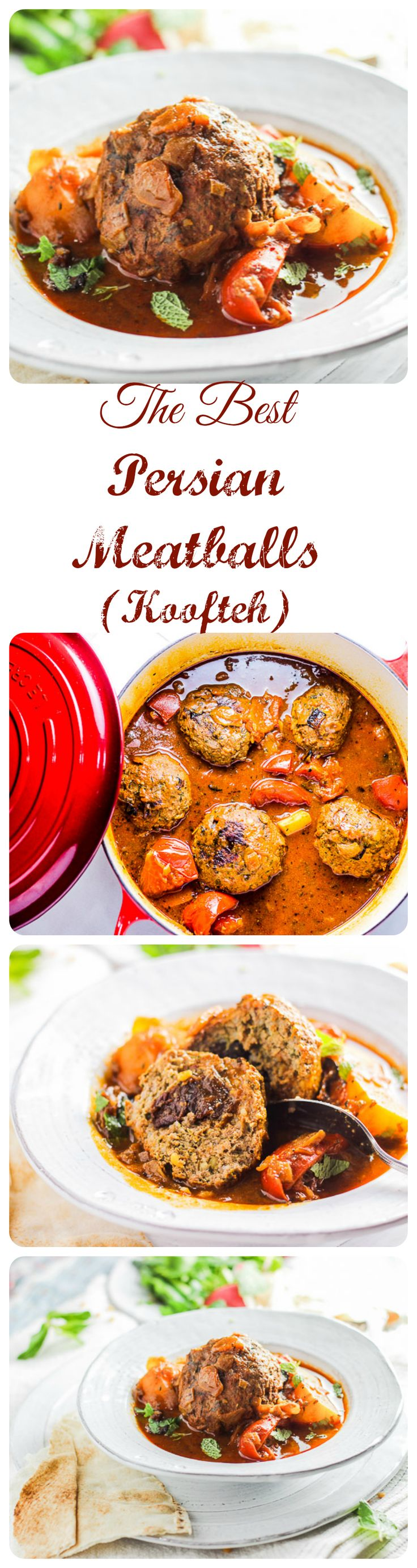 This recipe for Persian Meatballs (aka Koofteh) is passed down and the best I've ever tasted. I can't even begin to say how delicious it is. Divine! #meatballs #koofteh