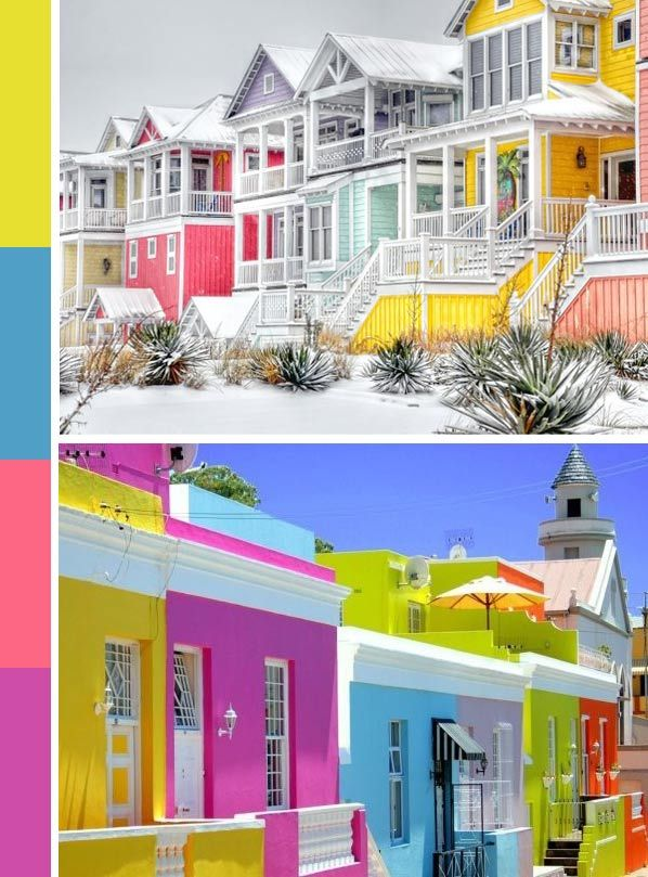 Best COLORFUL HOUSES Images On Pinterest Colorful - Tropical house colors