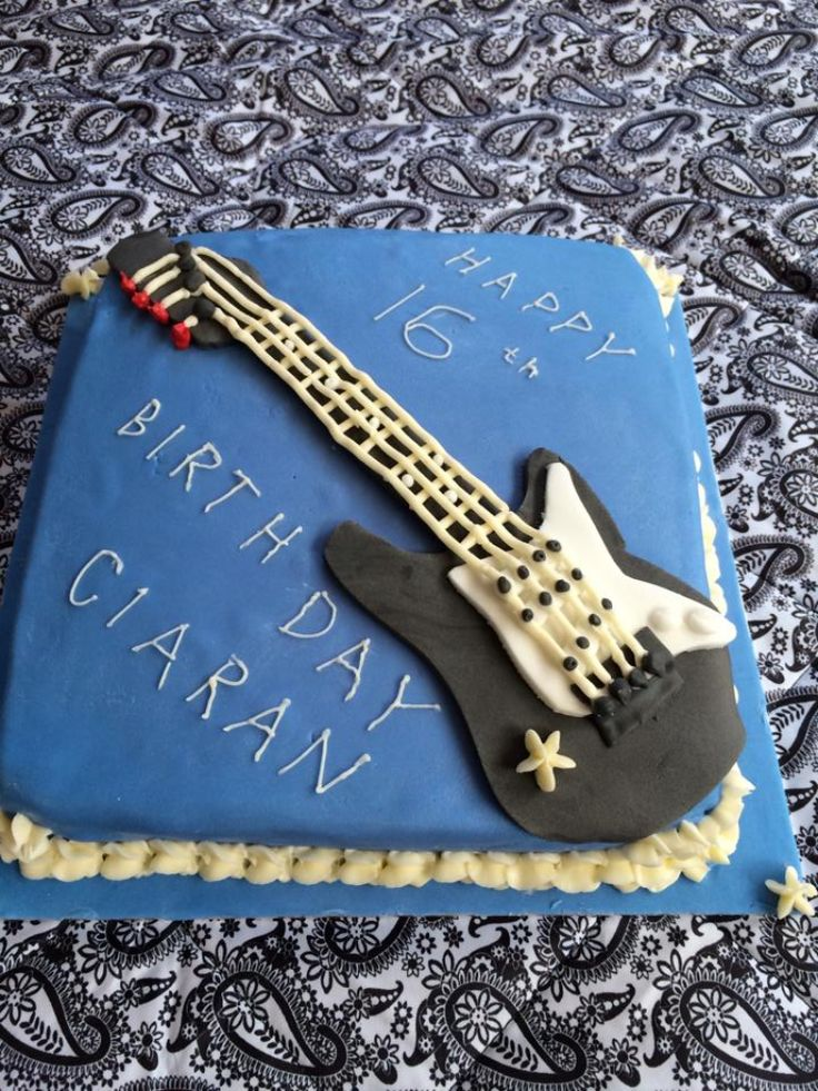 11 best Guitar cake images on Pinterest Guitar cake Music cakes