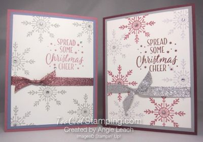Tin of Tags Sweet & Simple Sparkle Snowflake cards.  CASEd from Ronda Wade.  details at www.toocoolstamping.com