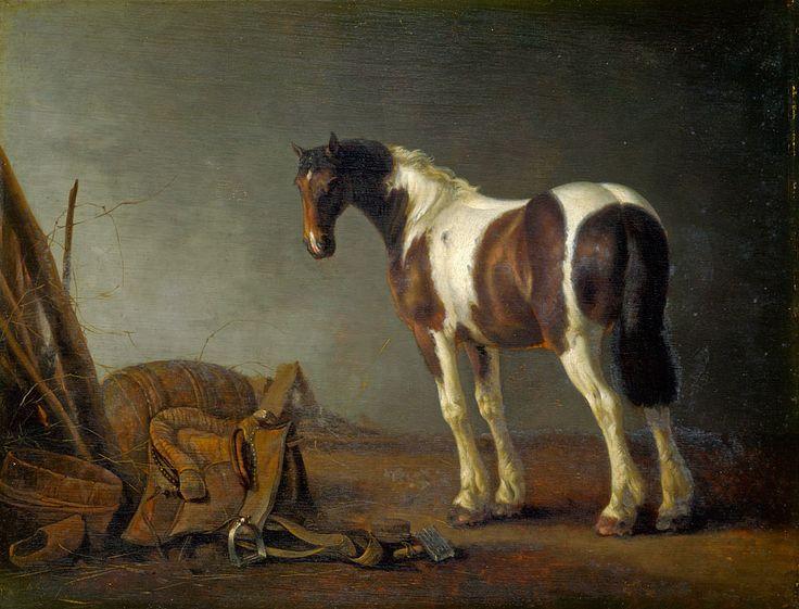 Abraham van Calraet (1642 - 1722). Лошадь с седлом рядом с ней. около 1680. Лондонская национальная галерея