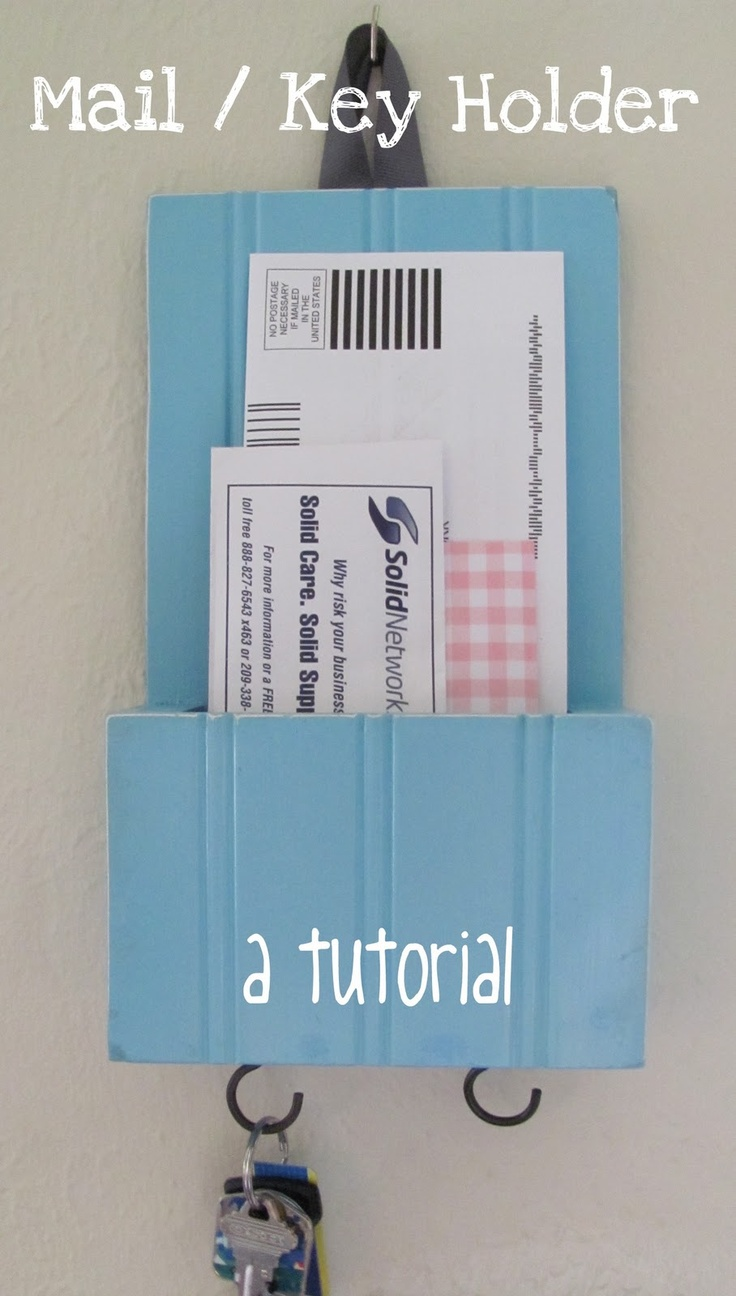 DIY Mail/Key Holder. One for each roommate for sorting mail would be great