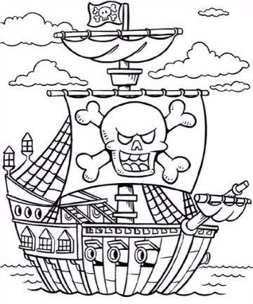 imagenes de barcos piratas para colorear