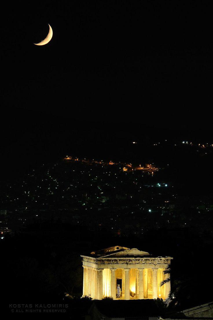 Ancient Athens by Night by Kostas Kalomiris on 500px