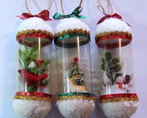 Елочные игрушки из пластиковых бутылок   Коробочка идей и мастер-классов