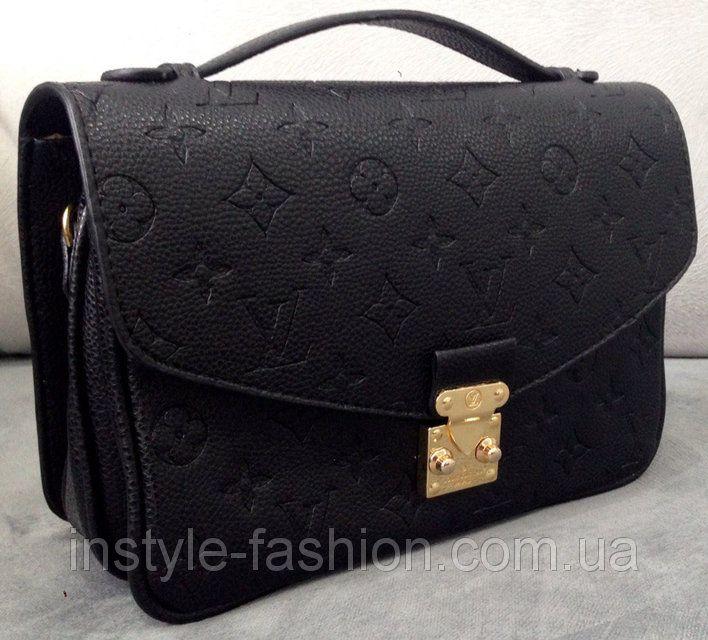 Сумка клатч Louis Vuitton черная, фото 1