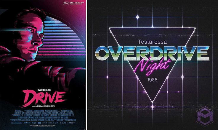 80s Design inspirational 80s graphic neon design | [theme] video app