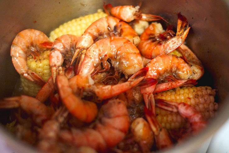 Shrimp Boil Cooked