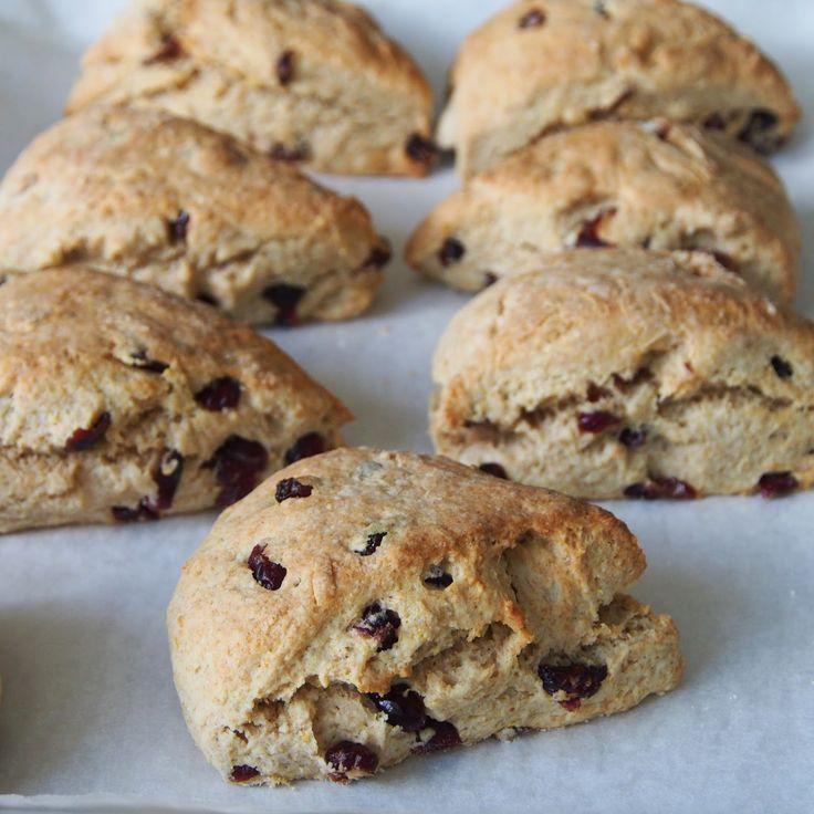 iCookiBakeiShoot: Cranberry Sour Cream Scones