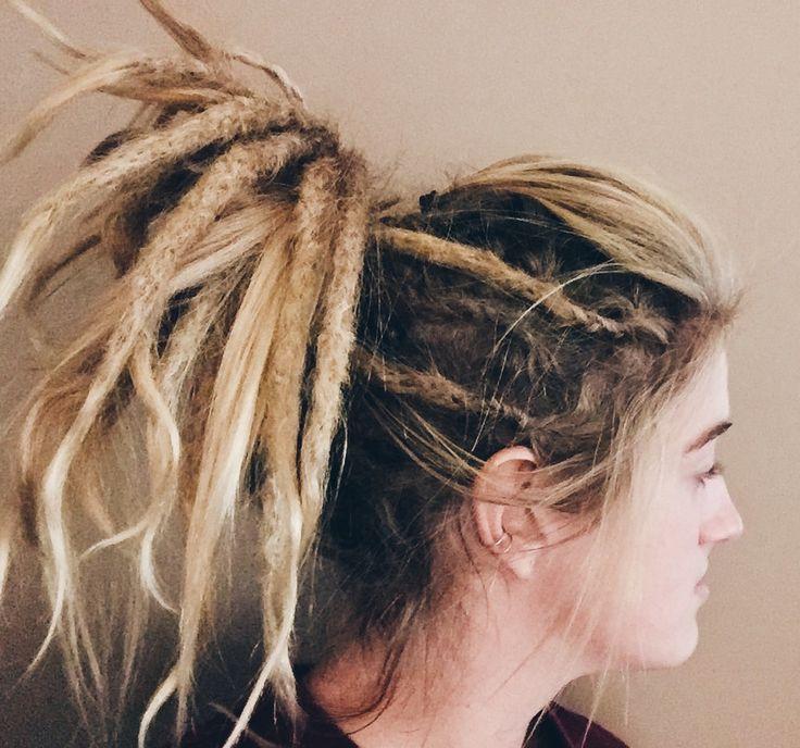 Blonde dreadlocks ponytail. #Dreads