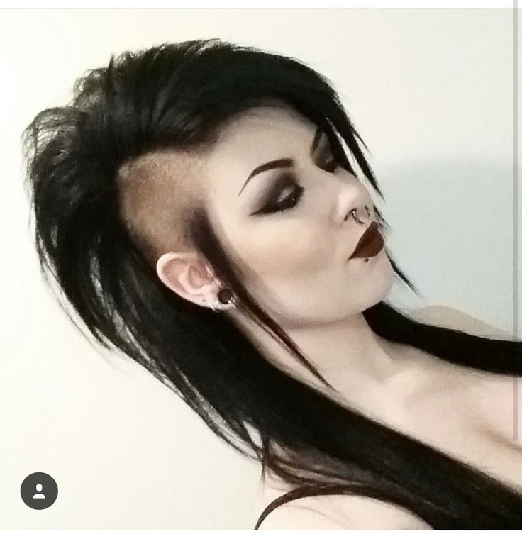 long hair shaved sides long mohawk gothic punk hairstyles