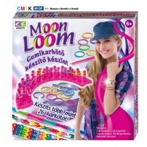 Moon Loom - gumikarkötő készítő készlet (kicsi) Kreativitás fejlesztése, finom-motorika fejlesztésére is ajánlott! #moonloom #okosodjvelunk