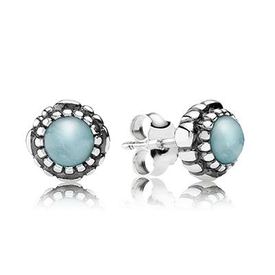 PANDORA | March Birthstone Stud Earrings