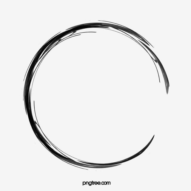 Pincel De Tinta Simple Circulo De Tinta Clipart De Circulo Cepillo Simple Png Y Psd Para Descargar Gratis Pngtree Circle Clipart Circle Tattoos Circle Tattoo Design
