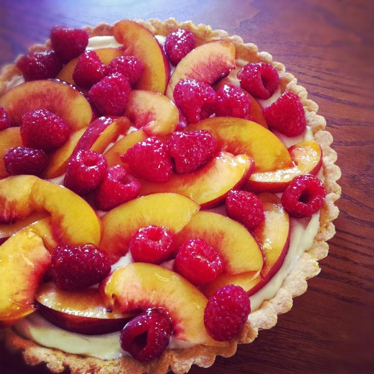 my kitchen: fresh nectarine raspberry tart with crème fraiche and a ...