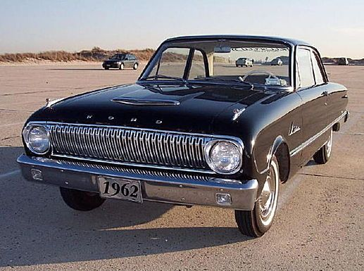 1962 Ford Falcon. In 1964 the Mustang was introduced, built on the Falcon chassis, as I recall.