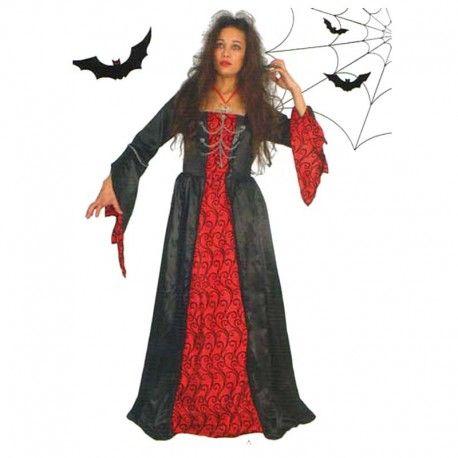 Disfraces Halloween mujer  Disfraz de duquesa gótica. Tenebroso modelo. Contiene vestido con mangas extra anchas. Talla M. 21,95€ #duquesa #gotica #duquesagotica #disfrazduquesa #disfrazgotica #disfraz #halloween #disfrazhalloween #disfraces