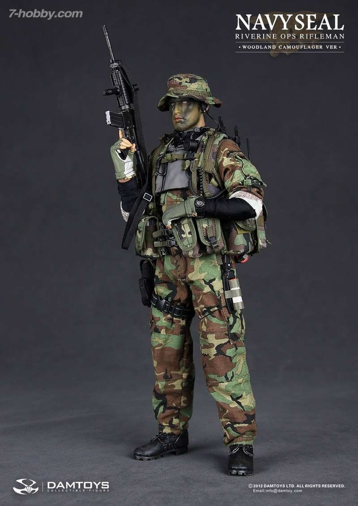 [DAM-93015] DAM 1/6 Navy Seal Riverine OPS Rifleman (Woodland Camouflager version) Special Version - 7-HOBBY.COM | Toys and Collectibles